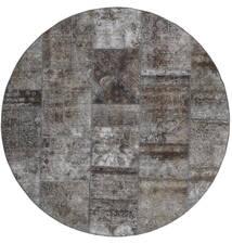 Patchwork - Persien/Iran Szőnyeg Ø 200 Modern Csomózású Kerek Sötétszürke/Világosszürke (Gyapjú, Perzsia/Irán)