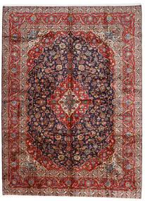 Kashan Szőnyeg 296X400 Keleti Csomózású Sötétpiros/Sötétlila Nagy (Gyapjú, Perzsia/Irán)