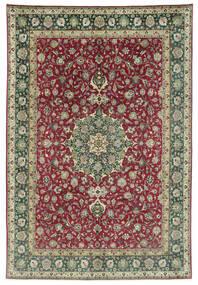 Tabriz 50 Raj Szőnyeg 245X362 Keleti Csomózású Sötétszürke/Sötétpiros (Gyapjú, Perzsia/Irán)