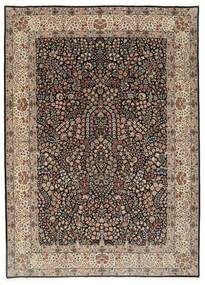 Kerman Lavar Szőnyeg 250X348 Keleti Csomózású Világosszürke/Fekete Nagy (Gyapjú/Selyem, Perzsia/Irán)