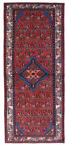 Hamadán Szőnyeg 80X190 Keleti Csomózású Sötétpiros/Fekete (Gyapjú, Perzsia/Irán)