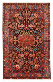 Nahavand Old Szőnyeg 150X240 Keleti Csomózású Sötétpiros/Fekete (Gyapjú, Perzsia/Irán)