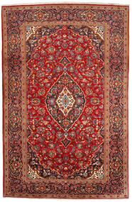 Kashan Szőnyeg 200X309 Keleti Csomózású Sötétpiros/Rozsdaszín (Gyapjú, Perzsia/Irán)