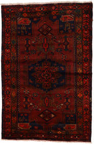 Zanjan Szőnyeg 137X212 Keleti Csomózású Sötétbarna/Sötétpiros (Gyapjú, Perzsia/Irán)