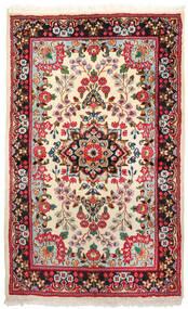 Kerman Szőnyeg 94X155 Keleti Csomózású Sötétpiros/Bézs (Gyapjú, Perzsia/Irán)