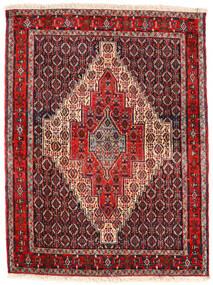Senneh Szőnyeg 123X163 Keleti Csomózású Sötétbarna/Sötétpiros (Gyapjú, Perzsia/Irán)