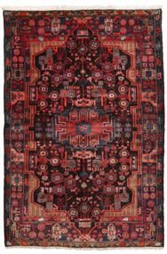 Nahavand Szőnyeg 152X245 Keleti Csomózású Sötétpiros/Fekete (Gyapjú, Perzsia/Irán)