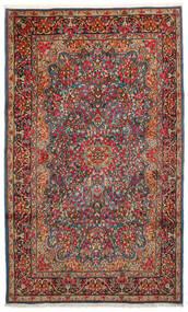 Kerman Szőnyeg 183X296 Keleti Csomózású Sötétbarna/Sötétpiros (Gyapjú, Perzsia/Irán)