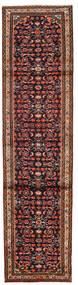 Hamadán Szőnyeg 76X300 Keleti Csomózású Sötétbarna/Sötétpiros (Gyapjú, Perzsia/Irán)