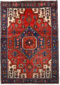 Nahavand Szőnyeg 133X193 Keleti Csomózású Fekete/Sötétpiros (Gyapjú, Perzsia/Irán)