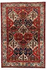 Bakhtiar Szőnyeg 139X205 Keleti Csomózású Sötétpiros/Fekete (Gyapjú, Perzsia/Irán)