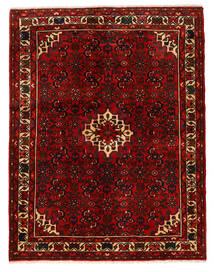 Hosseinabad Szőnyeg 150X193 Keleti Csomózású Sötétbarna/Sötétpiros (Gyapjú, Perzsia/Irán)