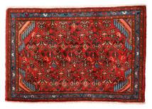 Hamadán Szőnyeg 55X81 Keleti Csomózású Rozsdaszín/Sötétbarna (Gyapjú, Perzsia/Irán)