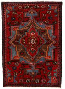 Nahavand Szőnyeg 68X100 Keleti Csomózású Sötétpiros/Sötétbarna (Gyapjú, Perzsia/Irán)