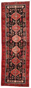 Hamadán Szőnyeg 104X306 Keleti Csomózású Sötétpiros/Rozsdaszín (Gyapjú, Perzsia/Irán)