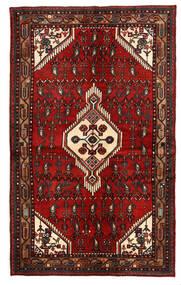 Hamadán Szőnyeg 135X221 Keleti Csomózású Sötétpiros/Sötétbarna (Gyapjú, Perzsia/Irán)