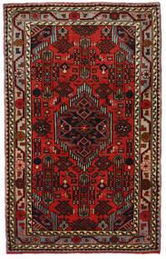 Hamadán Szőnyeg 81X130 Keleti Csomózású Sötétbarna/Sötétpiros (Gyapjú, Perzsia/Irán)
