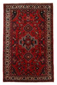 Hosseinabad Szőnyeg 67X107 Keleti Csomózású Sötétbarna/Sötétpiros/Rozsdaszín (Gyapjú, Perzsia/Irán)