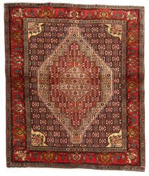 Senneh Szőnyeg 123X148 Keleti Csomózású Sötétbarna/Sötétpiros (Gyapjú, Perzsia/Irán)