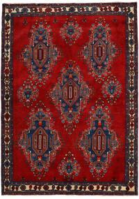 Afshar/Sirjan Szőnyeg 168X235 Keleti Csomózású Sötétpiros/Sötétlila (Gyapjú, Perzsia/Irán)