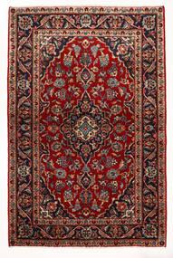 Kashan Szőnyeg 97X147 Keleti Csomózású Sötétpiros/Bézs (Gyapjú, Perzsia/Irán)