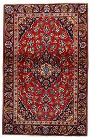 Kashan Szőnyeg 105X147 Keleti Csomózású Sötétpiros/Sötétlila (Gyapjú, Perzsia/Irán)