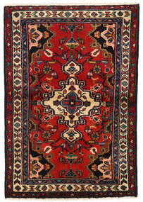 Lillian Szőnyeg 66X95 Keleti Csomózású Sötétpiros/Sötétbarna (Gyapjú, Perzsia/Irán)