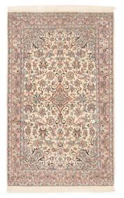 Kashmir Tiszta Selyem Szőnyeg 80X132 Keleti Csomózású Sötétbarna/Világosbarna (Selyem, India)
