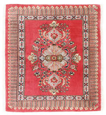 Kashmar Szőnyeg 75X84 Keleti Csomózású Sötétpiros/Piros (Gyapjú, Perzsia/Irán)
