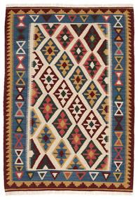 Kilim Szőnyeg 103X148 Keleti Kézi Szövésű Bézs/Sötétkék (Gyapjú, Perzsia/Irán)