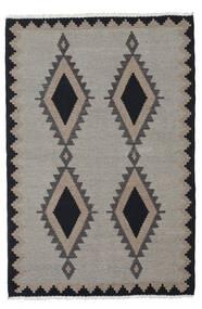 Kilim Szőnyeg 100X148 Keleti Kézi Szövésű Világosszürke/Sötétszürke (Gyapjú, Perzsia/Irán)