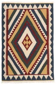 Kilim Szőnyeg 102X158 Keleti Kézi Szövésű Sötétszürke/Bézs (Gyapjú, Perzsia/Irán)