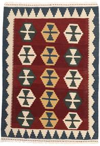 Kilim Szőnyeg 104X147 Keleti Kézi Szövésű Bézs/Sötétpiros/Sötétszürke (Gyapjú, Perzsia/Irán)
