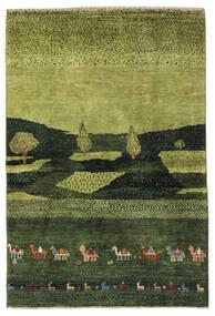 Gabbeh Perzsa Szőnyeg 104X150 Modern Csomózású Sötétzöld/Olívazöld (Gyapjú, Perzsia/Irán)