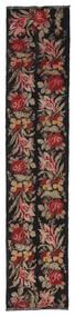 Kilim Rose Moldavia Szőnyeg 66X312 Keleti Kézi Szövésű Fekete/Sötétpiros (Gyapjú, Moldova)