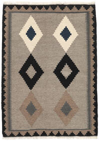 Kilim Szőnyeg 107X150 Keleti Kézi Szövésű Világosszürke/Fekete (Gyapjú, Perzsia/Irán)