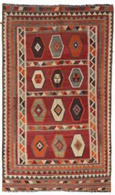 Kilim Vintage Szőnyeg 133X232 Keleti Kézi Szövésű Sötétpiros/Világosbarna/Sötétbarna (Gyapjú, Perzsia/Irán)
