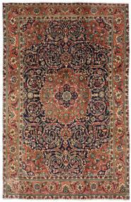 Tabriz Szőnyeg 196X308 Keleti Csomózású Sötétbarna/Sötétszürke (Gyapjú, Perzsia/Irán)