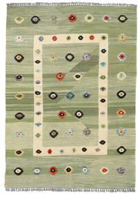Kilim Modern Szőnyeg 107X151 Modern Kézi Szövésű Világoszöld/Bézs/Krém (Gyapjú, Afganisztán)