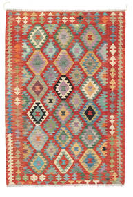 Kilim Afgán Old Style Szőnyeg 122X178 Keleti Kézi Szövésű Rozsdaszín (Gyapjú, Afganisztán)