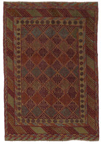 Kilim Golbarjasta Szőnyeg 140X195 Keleti Kézi Szövésű Fekete/Sötétbarna (Gyapjú, Afganisztán)