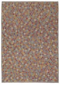 Kilim Afgán Old Style Szőnyeg 202X292 Keleti Kézi Szövésű Sötétbarna/Sötétszürke (Gyapjú, Afganisztán)