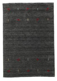 Gabbeh Loom Two Lines - Másodlagos Szőnyeg 140X200 Modern Fekete/Bézs (Gyapjú, India)