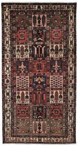 Bakhtiar Szőnyeg 157X297 Keleti Csomózású Fekete/Sötétbarna (Gyapjú, Perzsia/Irán)