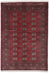 Pakisztáni Bokhara 3Ply Szőnyeg 140X201 Keleti Csomózású Fekete/Sötétpiros (Gyapjú, Pakisztán )
