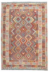 Kilim Afgán Old Style Szőnyeg 202X288 Keleti Kézi Szövésű Sötétbarna/Sötétpiros (Gyapjú, Afganisztán)