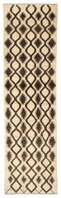 Moroccan Berber - Afghanistan Szőnyeg 79X289 Modern Csomózású Sárga/Fekete (Gyapjú, Afganisztán)
