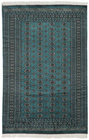 Pakisztáni Bokhara 3Ply Szőnyeg 184X280 Keleti Csomózású Fekete/Sötét Turquoise (Gyapjú, Pakisztán )