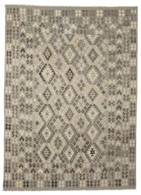 Kilim Afgán Old Style Szőnyeg 247X345 Keleti Kézi Szövésű Sötétbarna/Sötétszürke (Gyapjú, Afganisztán)