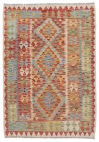 Kilim Afgán Old Style Szőnyeg 100X145 Keleti Kézi Szövésű Sötétbarna/Bézs (Gyapjú, Afganisztán)
